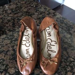 Same Edelman Brown Ballet Flats Size 7