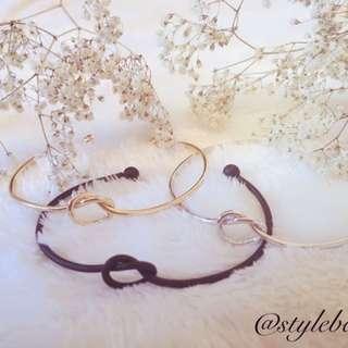 Knot Bangle Bracelets