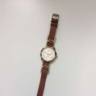 Brown & Gold Fossil Watch