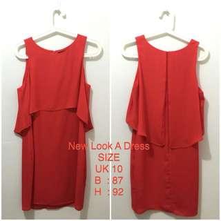 New Look A Dress Orange