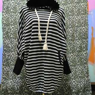 Knitted Poncho Dress