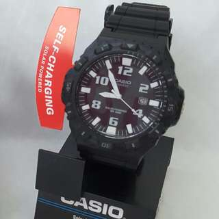 Casio Black Solar Self-charging Analog Sports Watch
