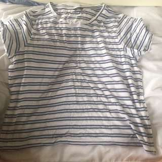 Brand New Blue And White Stripe Top