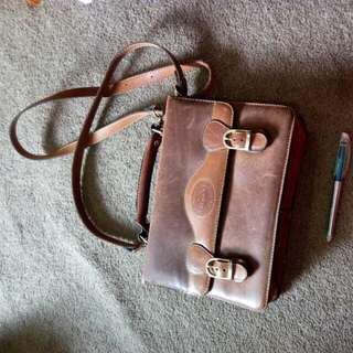 Vintage- Deerskin Messenger Bag