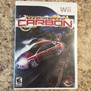 Wii Game Need For Speed Carbon