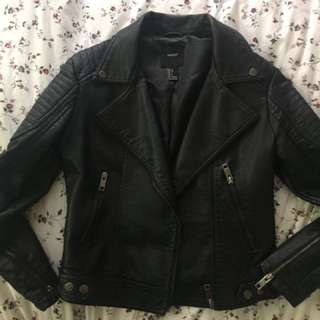 Forever 21 Vegan Leather Moto Jacket