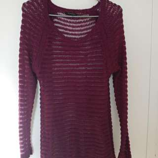 See through Knitted Sweater