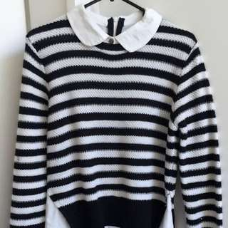 Semi Formal 2in 1 Knitted Shirt