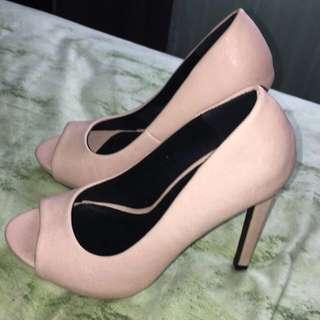 New Nude Spur High Heels