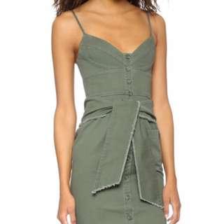 Nicholas Khaki Bustier Dress Size 8