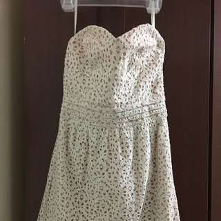 Urban Outfitters Sweetheart Eyelet Dress