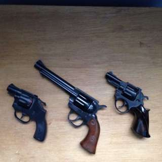 3 1980s Edison Cap Guns Kids