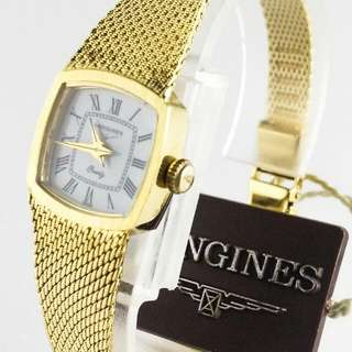 Longines Riviera Lady's Vintage Stainless Steel Gold Plated Swiss Quartz Watch rolex omega rado seiko tissot casio