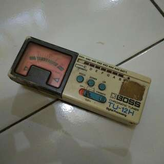 Boss Chromatic Tuner ( TU-12H ) made in Japan