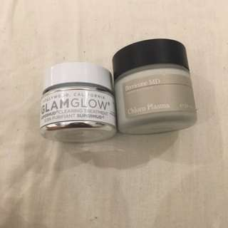Glamglow Supermud Clearing Treatment And Perricone MD Chloro Plasma Mask
