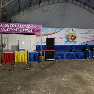 stage with back drop