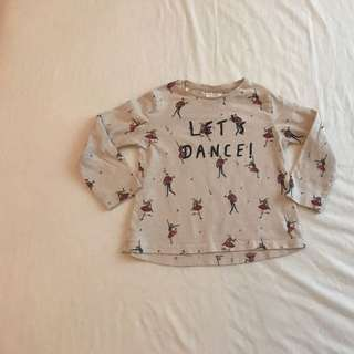 WTS: Zara Baby Girl Long Sleeve Cotton Top Size:12/18months