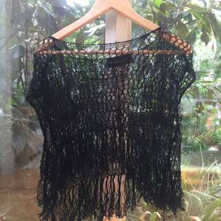 Shakuhachi loose lace tassel top