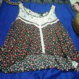 Forever 21 Summer Cute Blouse Large