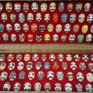 100 Peking Opera Characters Face Painting