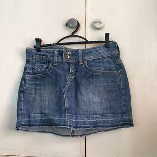 Mango Denim Mini Skirt