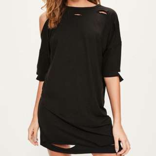 Missguided Oversized Distressed Dress