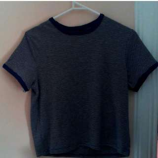 Blue Cropped tee