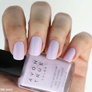 BNIB Avon Multi Benefit BB Nail Enamel Lavender