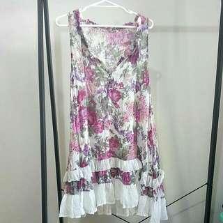 Frilly Floral Dress #under10