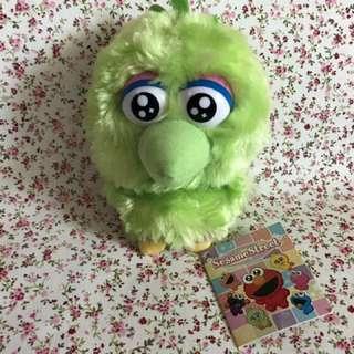 Sesame Street Green Bird 芝麻街 毛公仔