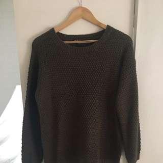 Kaki Long Sleeve Knit