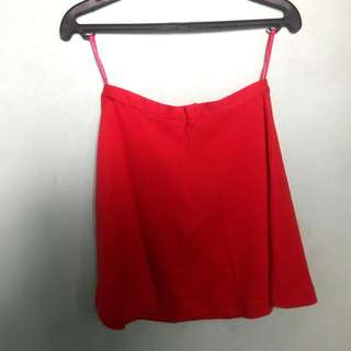 UNIQLO Bright Red Soft Skirt