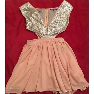 Silver/Pink Dress Size 10 ~ No Swaps ~