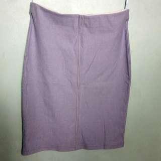 UNIQLO Soft Denim Bodycon Skirt