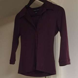 Burgundy Endless Spirit Shirt Sz S