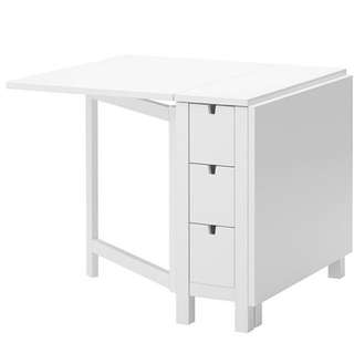 FREE: Ikea Foldable Table With Drawers (NORDEN)