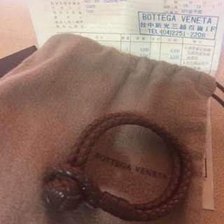 Bottega Veneta 真品。編織手鍊s號
