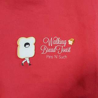 Walking Bread Toast Brooch
