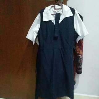 School Uniform Pinafore For Girls 7-8 Years