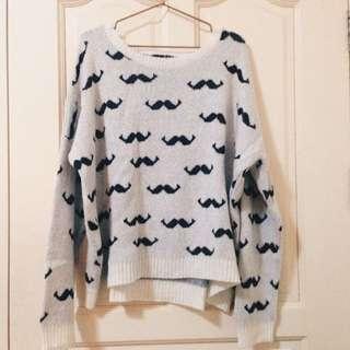 ATMOSPHERE Mustache Sweater/Knitwear
