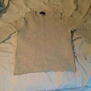 Size 10 Neutral Cold Shoulder Top