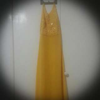 Size 14 Yellow Elegant Dress  $20