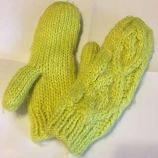 H&M 內抓毛禦寒手套