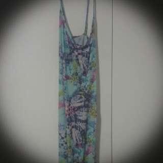 Long Colourful Boohoo Dress