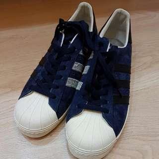 🚚 降價!!!Adidas 愛迪達 藍色麂皮面Superstar US 11.5  UK 11