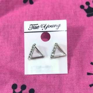 🚚 💎三角鑲鑽耳環💎