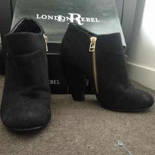 London Rebel Ankle Boots - Size 7