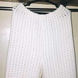 White Bottom Bikini Cover Up (Pajama-like)