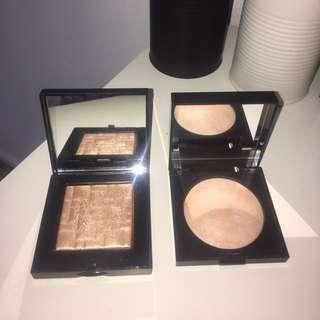 Bobbi Brown Highlighting Powder-bronze Glow / Laura Mercier Matte Radiance Baked Powder- 01