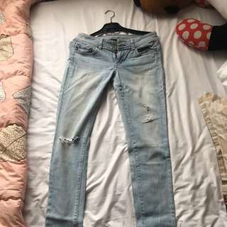 American Eagle Outfitters Skinny Rip Jeans